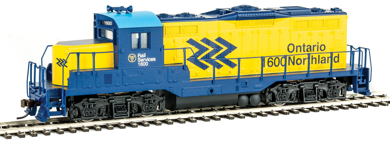 Yellow//Blue Walthers Trainline HO Scale EMD GP9M Ontario Northland//ON #1600