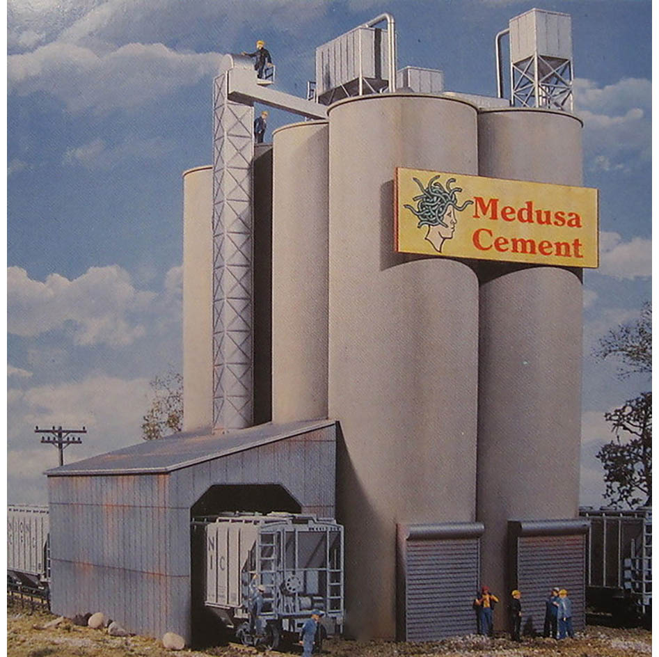 Medusa Cement Company : Walthers cornerstone ho scale building structure kit