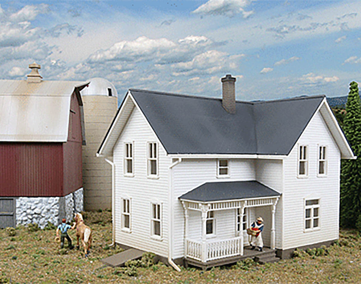 Walthers cornerstone ho scale building structure kit for Farmhouse building kits