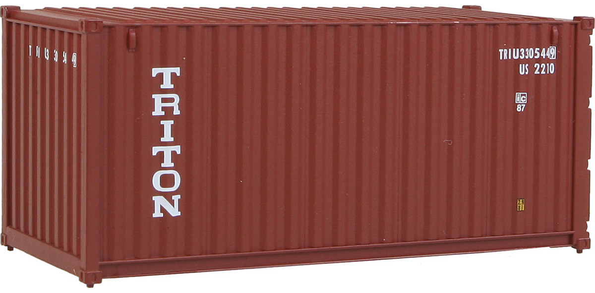 Red Walthers HO Scale 20/' Corrugated Shipping Intermodal Container MSC
