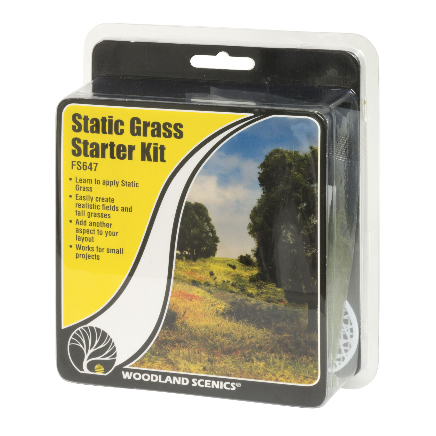 Details about Woodland Scenics Model Railroad Landscape Static Grass Field  System Starter Kit