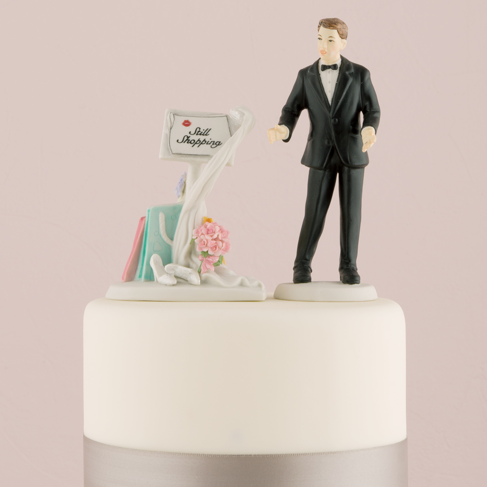 Still Shopping Funny Wedding Cake Topper Custom Weddingstar