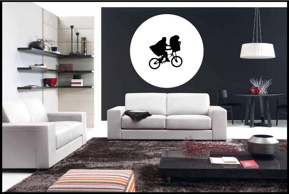 Dettagli su Camera da Letto Vinile Adesivo Murale et E.T Luna Parete  Decorazione Rimovibile