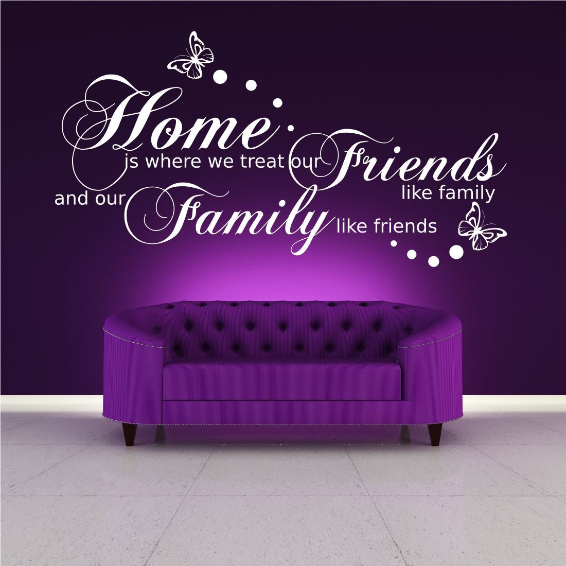 Family Friends Home Quote Wall Art Sticker Transfer Decal Mural
