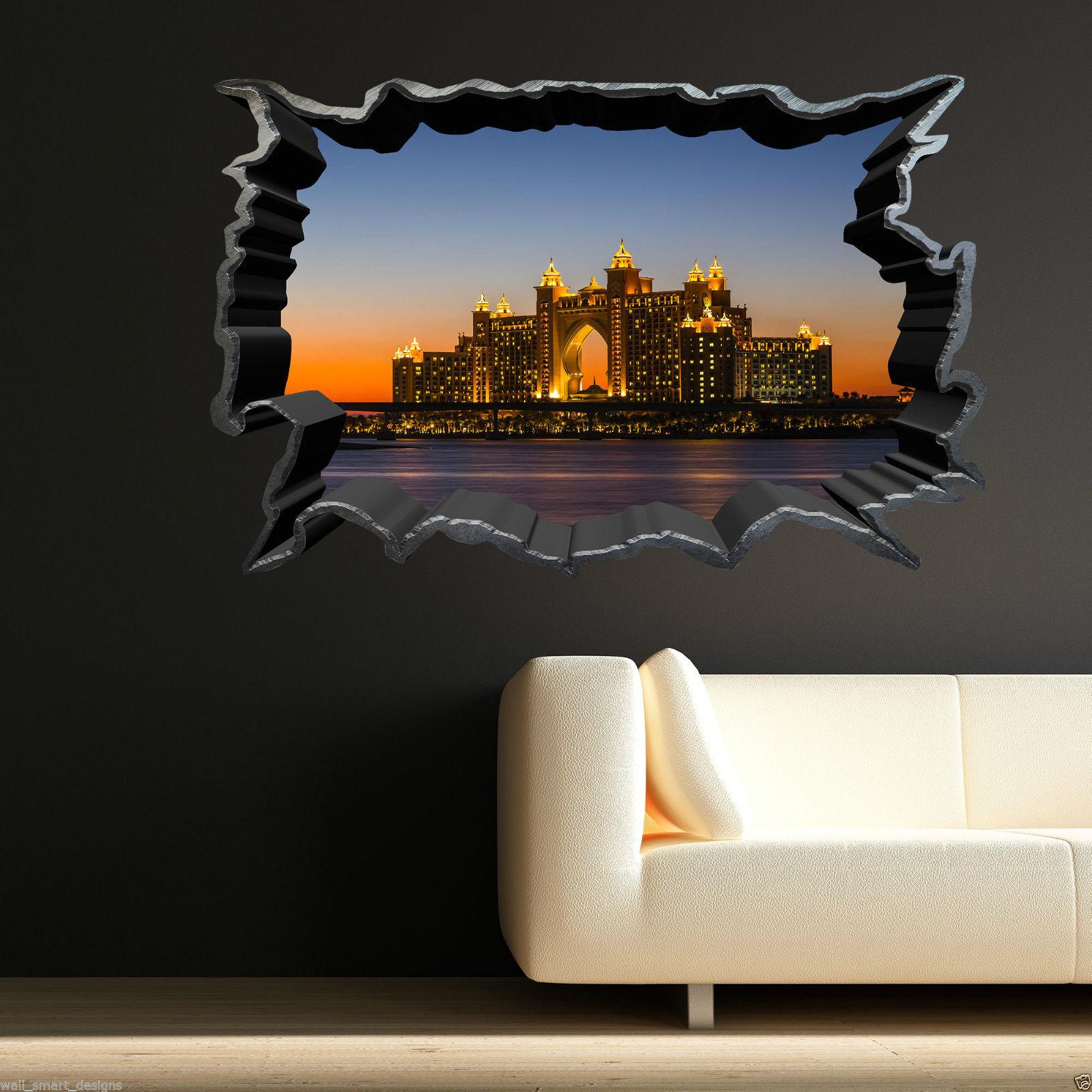 Full Colour SKYLINE SUNSET CITY wall art sticker decal transfer Graphic Print 2
