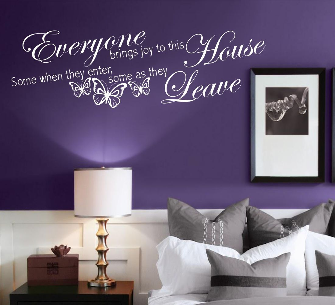 House-brings-Joy-and-Love-Wall-Art-Quotes- & House brings Joy and Love Wall Art Quotes Stickers Murals Decals ...