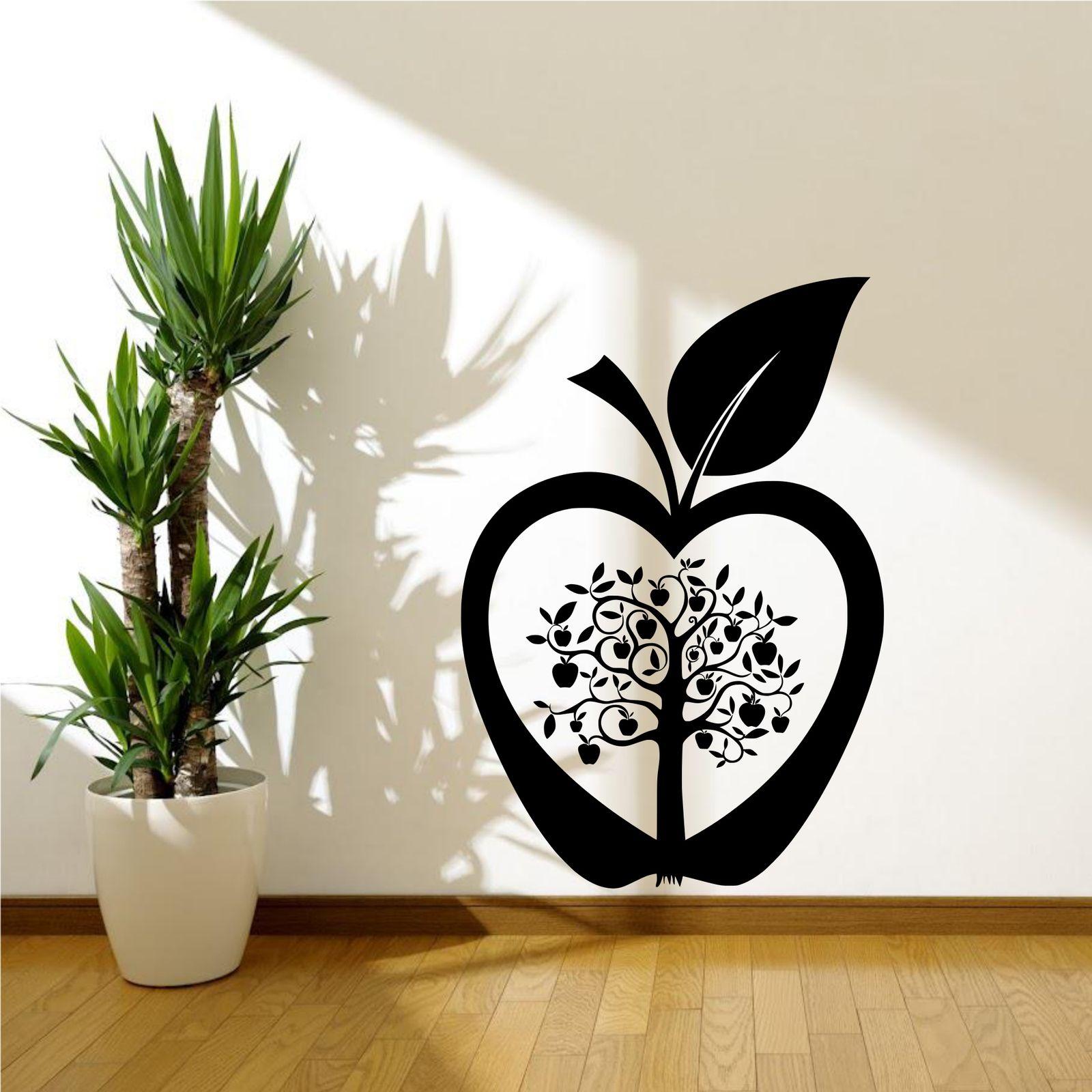 cucina albero di mele Fiore Moderno Adesivo Parete Decalcomania da ...