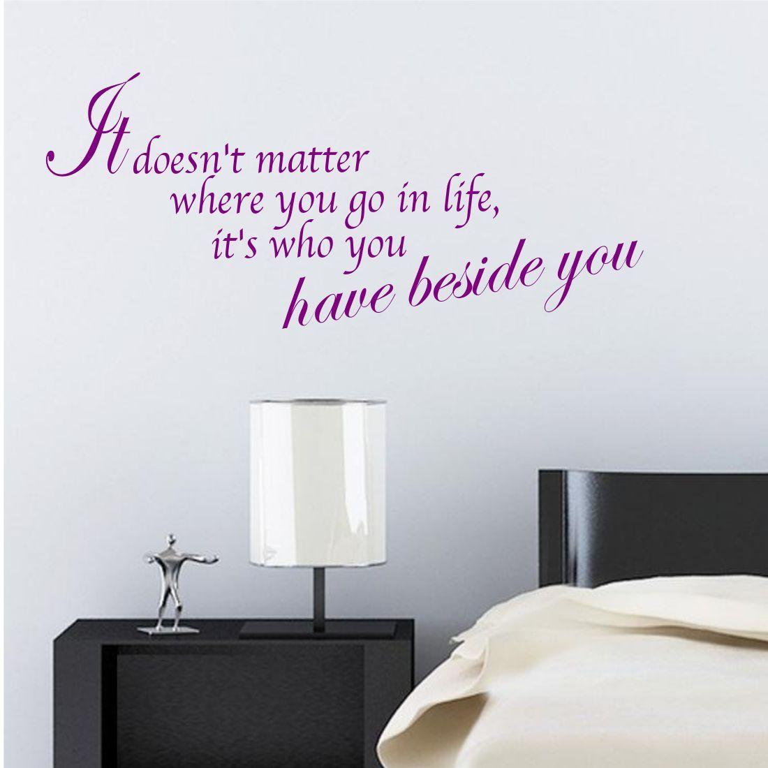 VITA A HANNO AL LATO You citazione Adesivo da parete per camera da ...