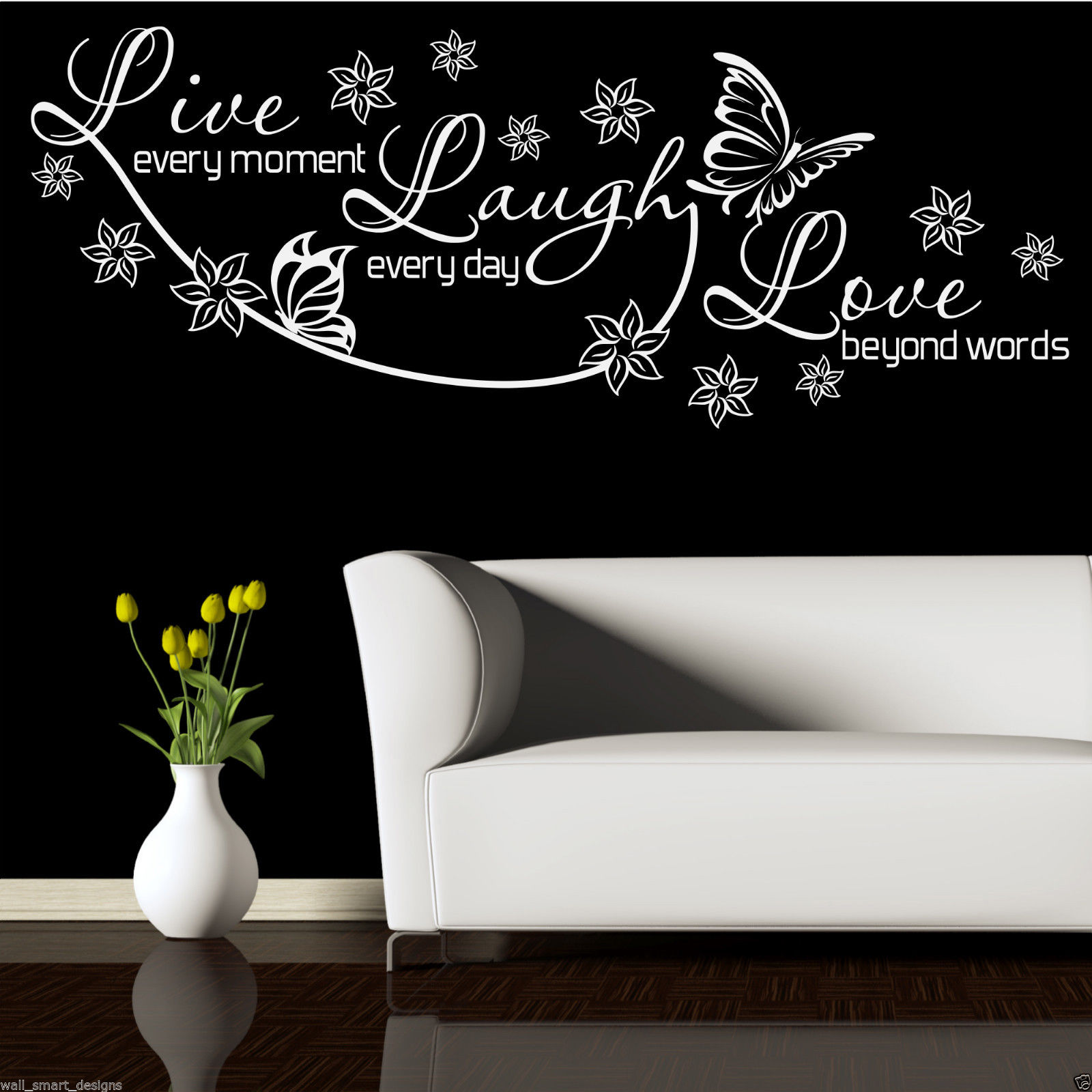 Wall Stickers Live Laugh Love Live Laugh Love Wall Art Sticker Lounge Room Quote Decal