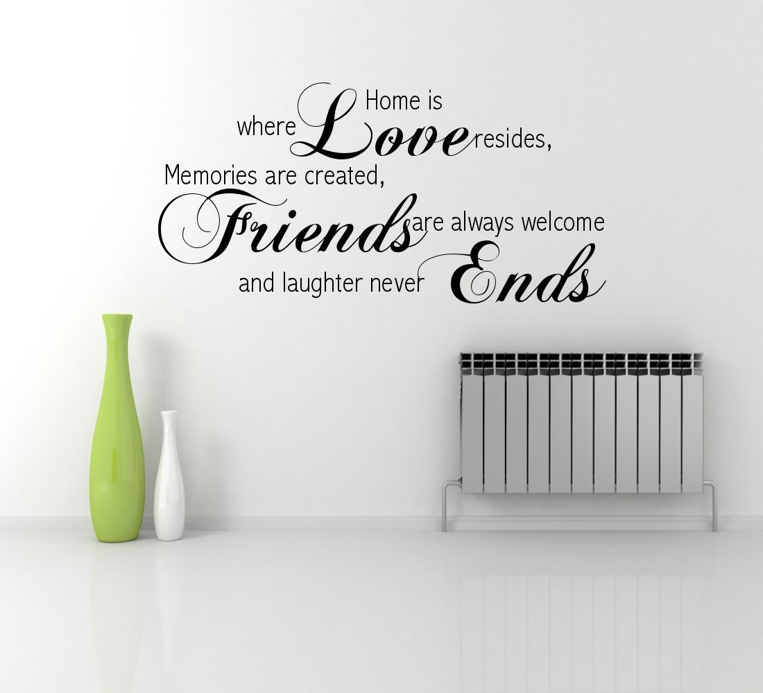 Love Quotes Wall Stickers Love Friends Memory Family Wall Quote Phrase Sticker Decal
