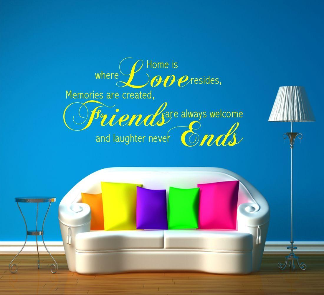 Amor Amigos Memoria Familia Frase Pared Frase Pegatina Pegatina