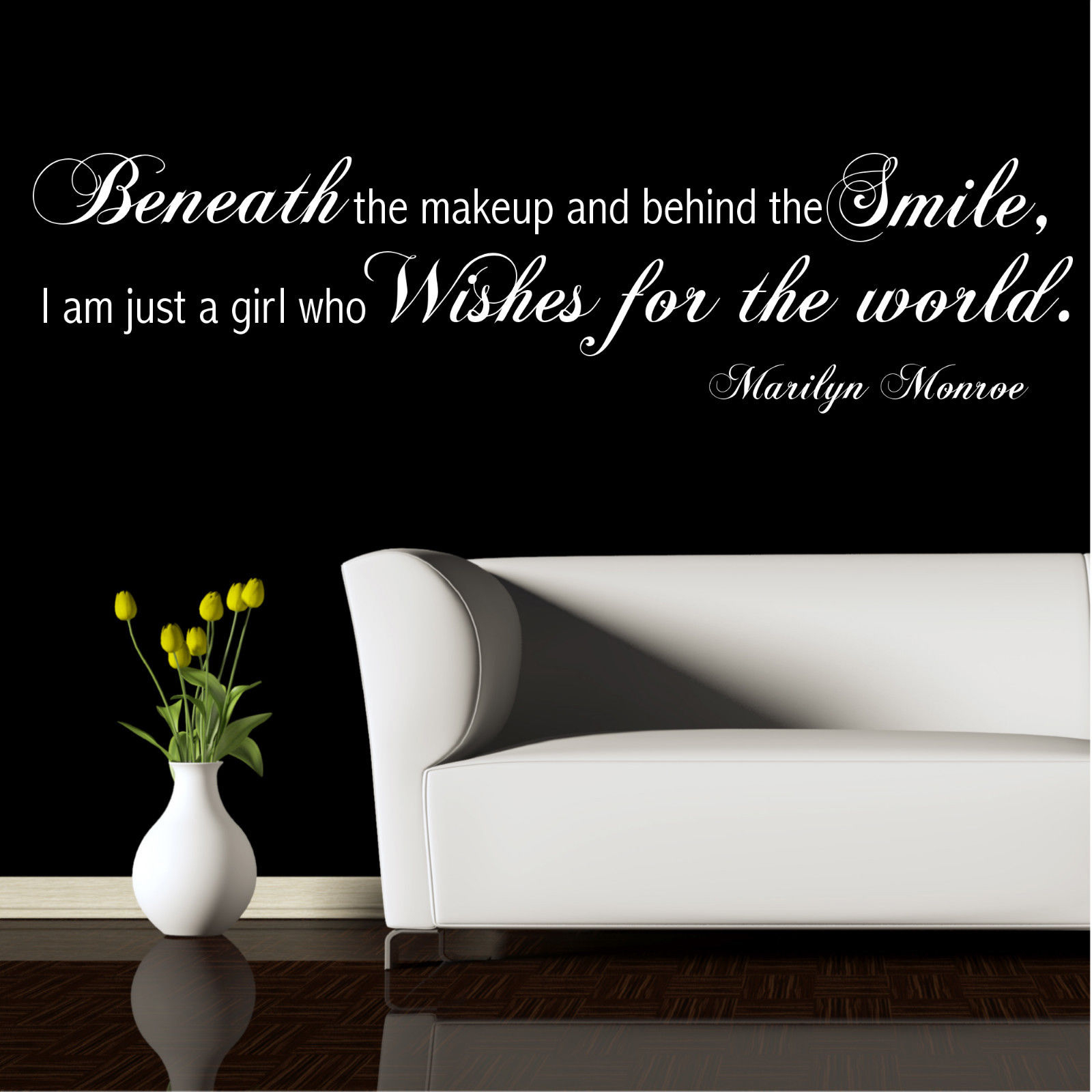 Marilyn Monroe Wish Wall Quotes Wall Art Stickers Decal ...