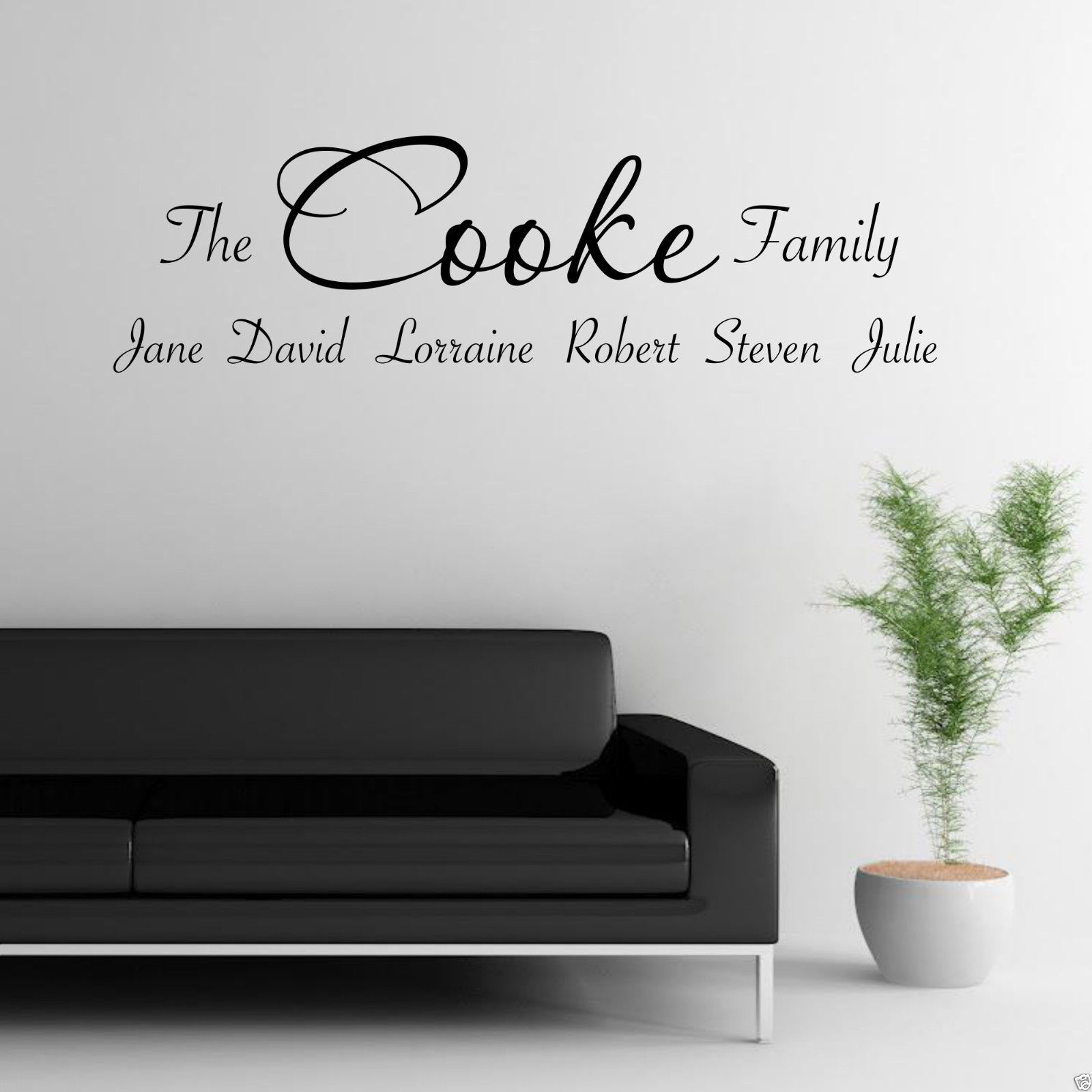 Personalised Family Wall Art Sticker Lounge Quote Decal Transfer