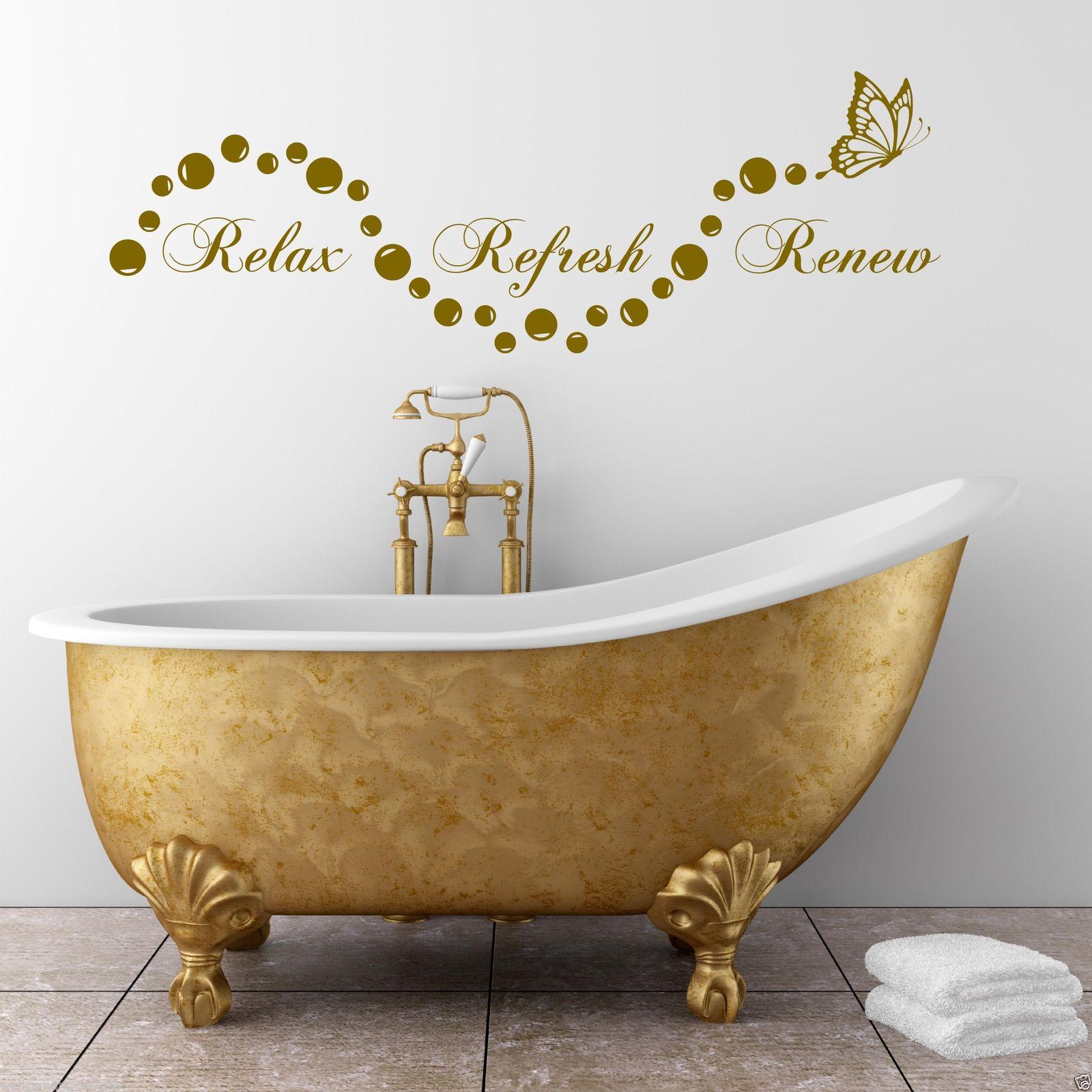 Relax Salle De Bain Bulles En Suite Art Mural Autocollant Citation