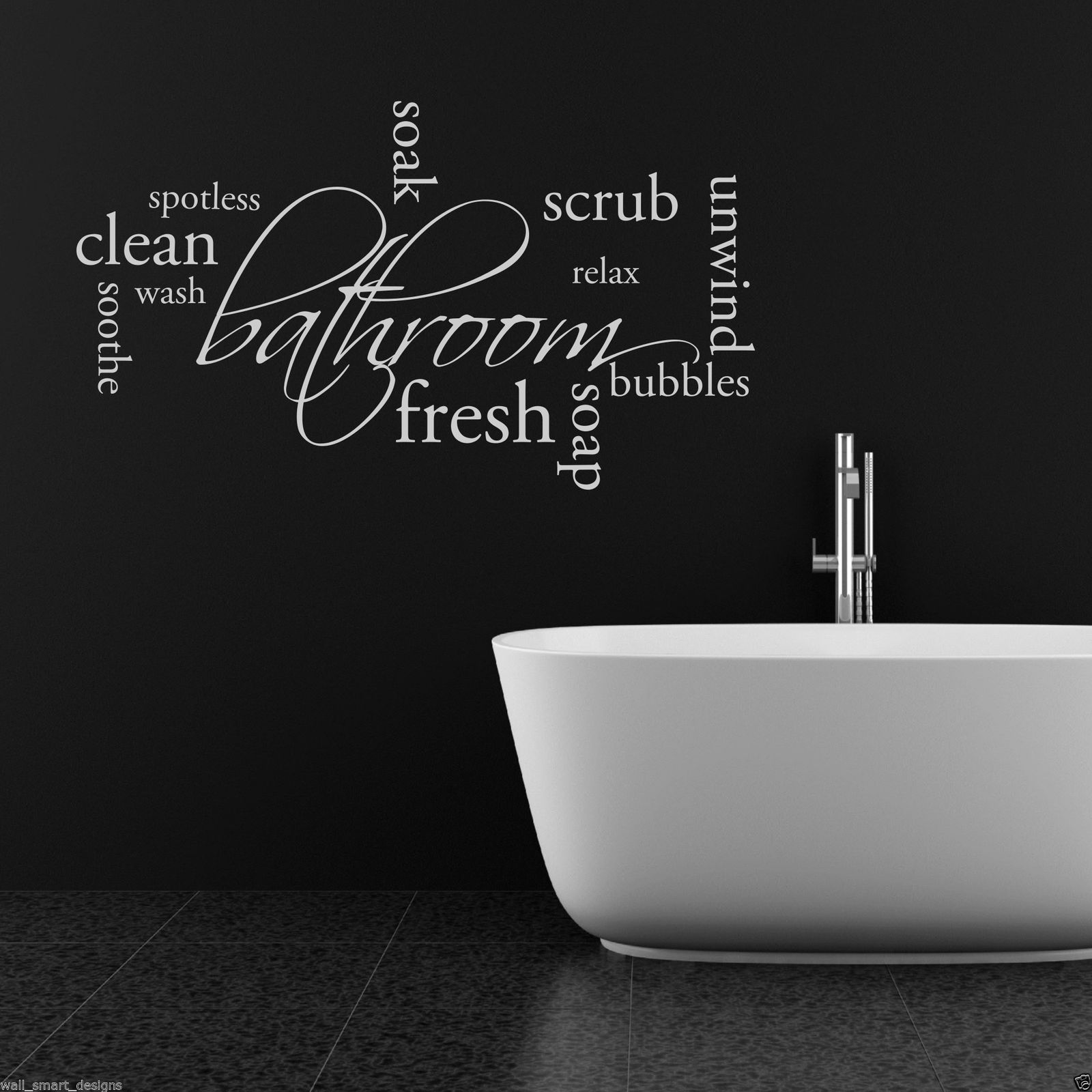 Relax Soap Bathroom Wall Sticker Quote Decal Mural Stencil