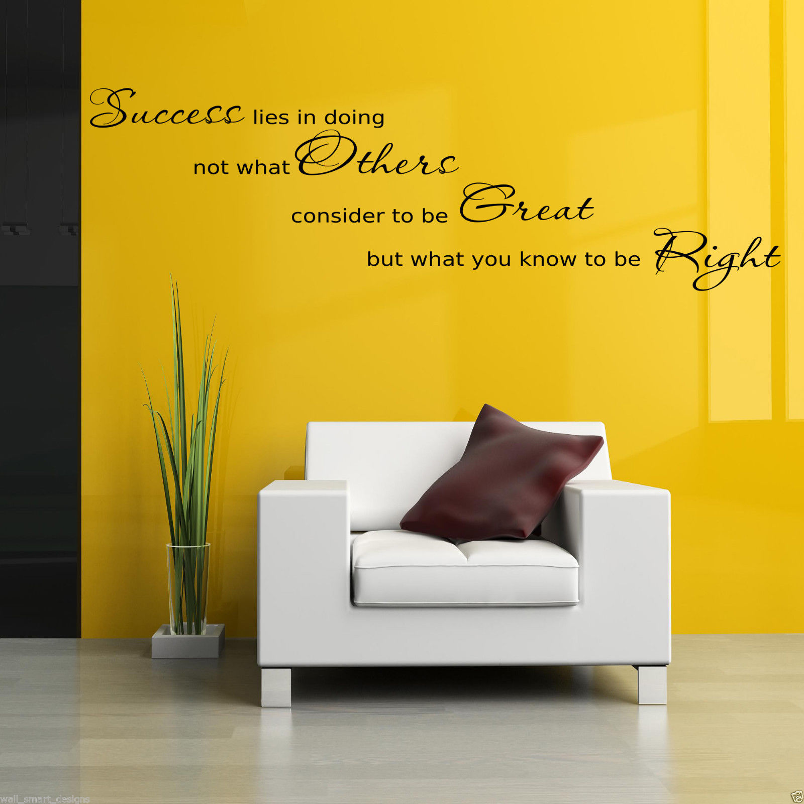 SUCCESS OFFICE Wall Art Sticker Hall Lounge Quote Decal Mural ...