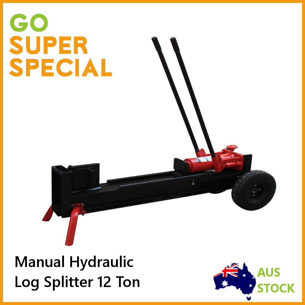 Log Splitter Manual 12 Ton Hydraulic Firewood Wood Cutter ...