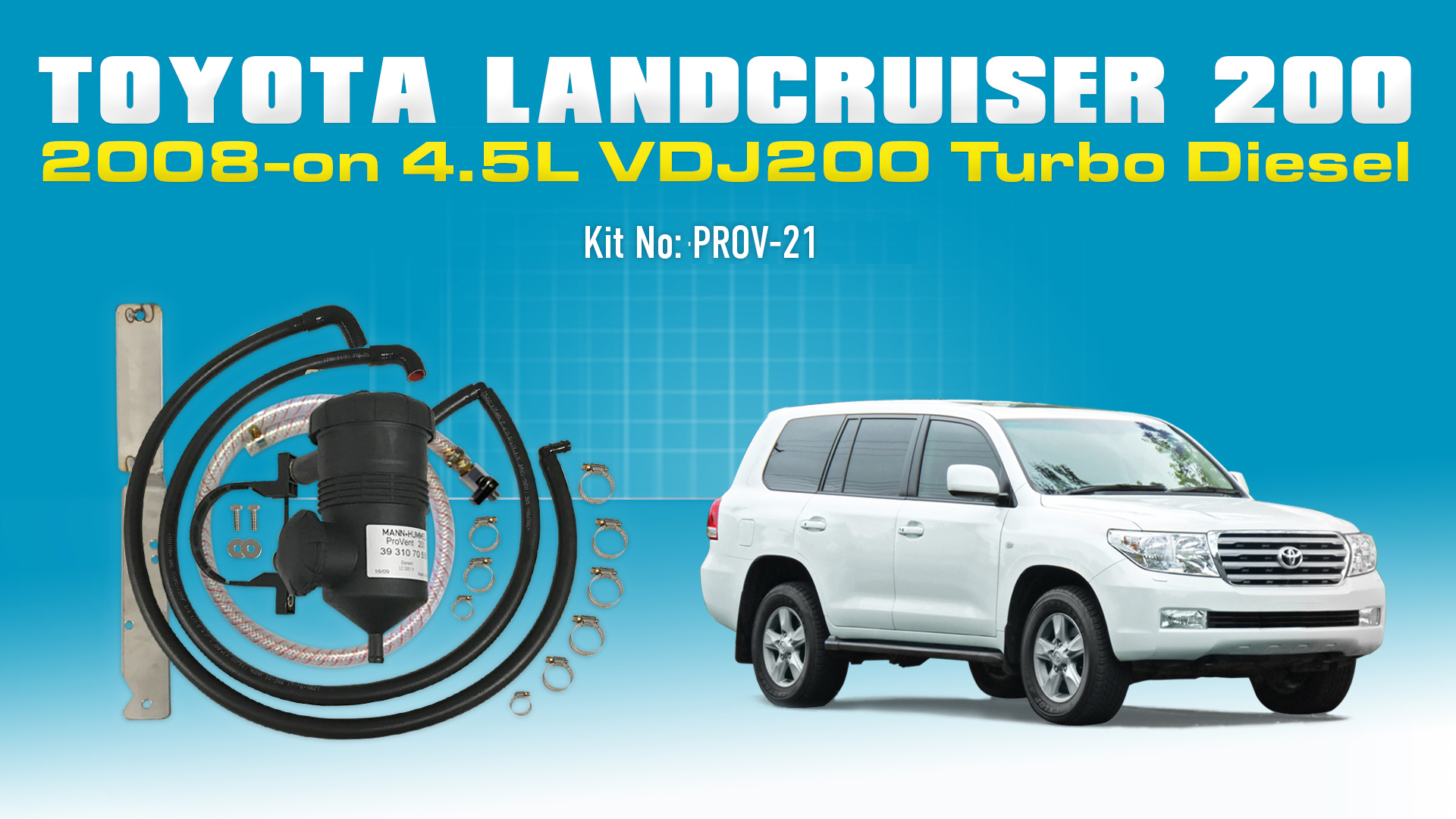 Toyota Landcruiser 2008 On 45l Vdj 200s T Diesel Provent Oil Egr 1990 C1500 5 7 Vacuum Diagram 1987 Chevy Engine Catch Can Kit Online Store