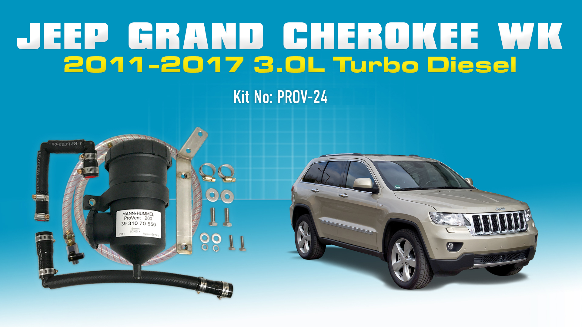 Jeep Grand Cherokee 2011 2017 30l Wk Turbo Diesel Provent Catch Sport Fuel Filter Can Kit Online Store