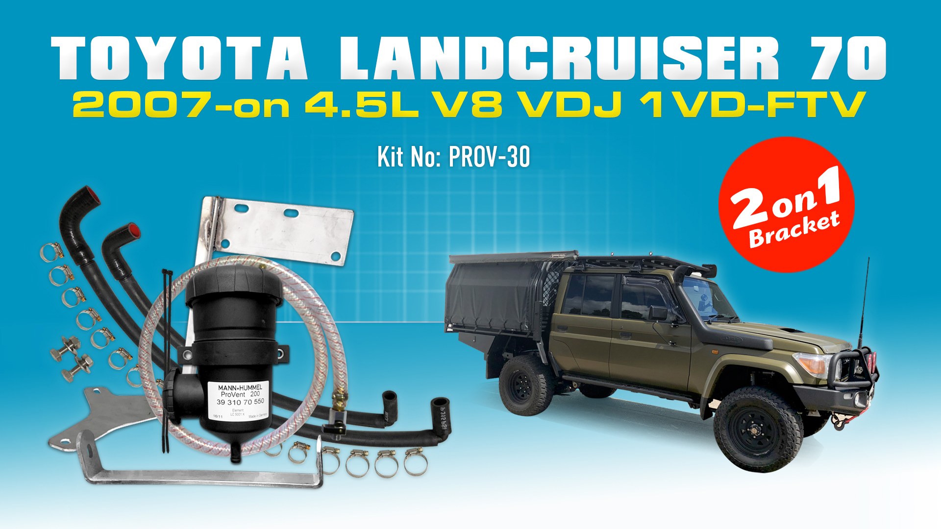 Toyota Landcruiser 70 Series 2007 On Suits Both Single And Dual 2002 Duramax Fuel Filter Bracket Battery Provent Oil Catch Can Kit Online Store