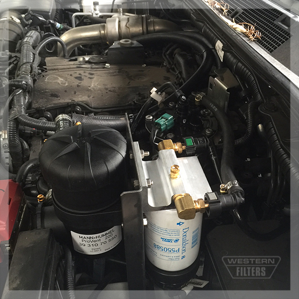 Provent Installation in Nissan Navara NP300 Western Filters