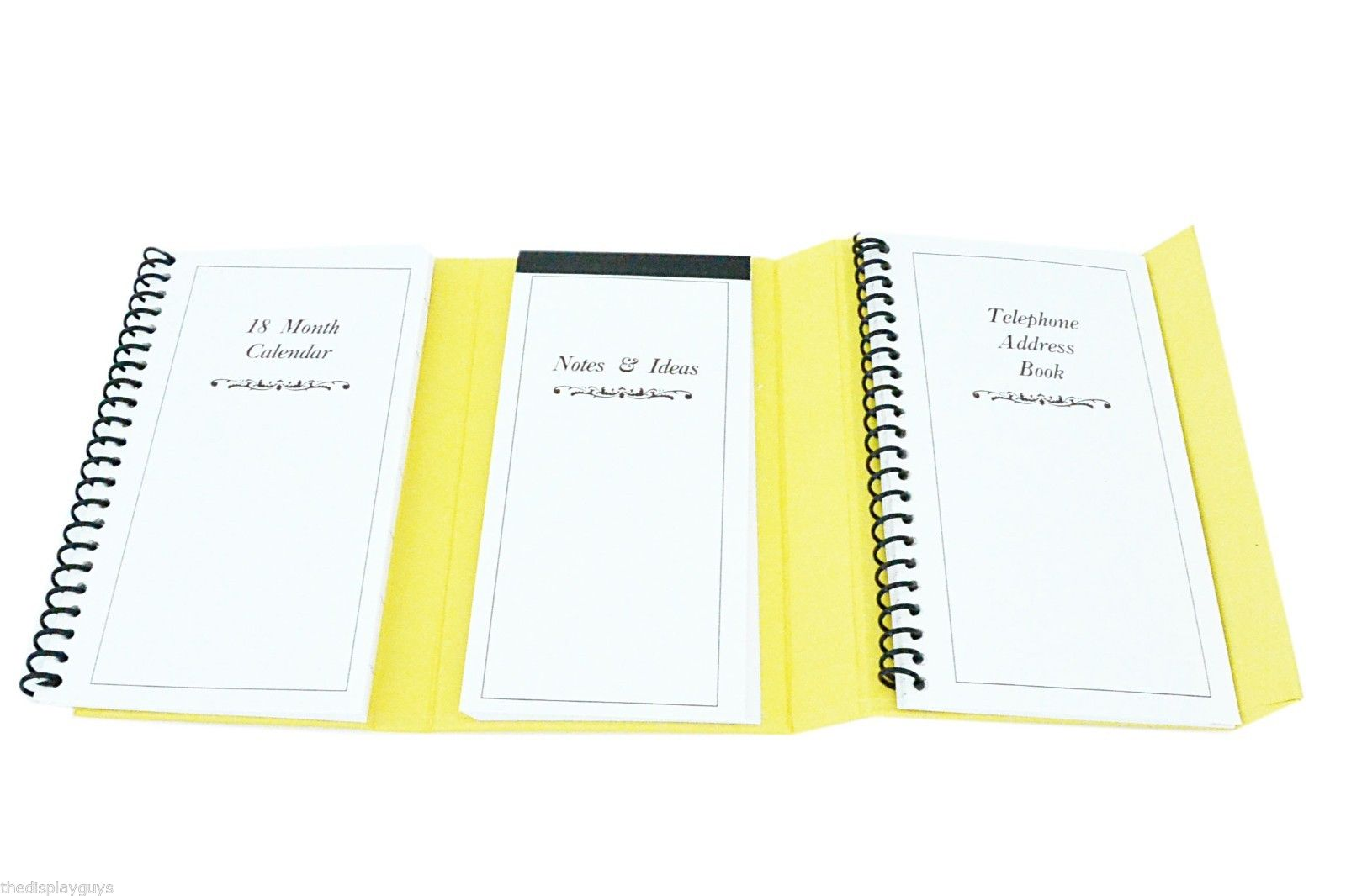 yellow 6 trifold personal organizer planner notebook magnetic cover