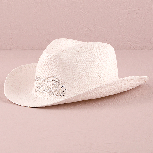 20526eb9d Details about White Bride Cowboy Hat Bridal Accessory Western Wedding  Cowgirl Weddingstar