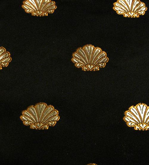 54 Black Gold Seashell Marine Fabric Larson Boat 0883714 Cabin