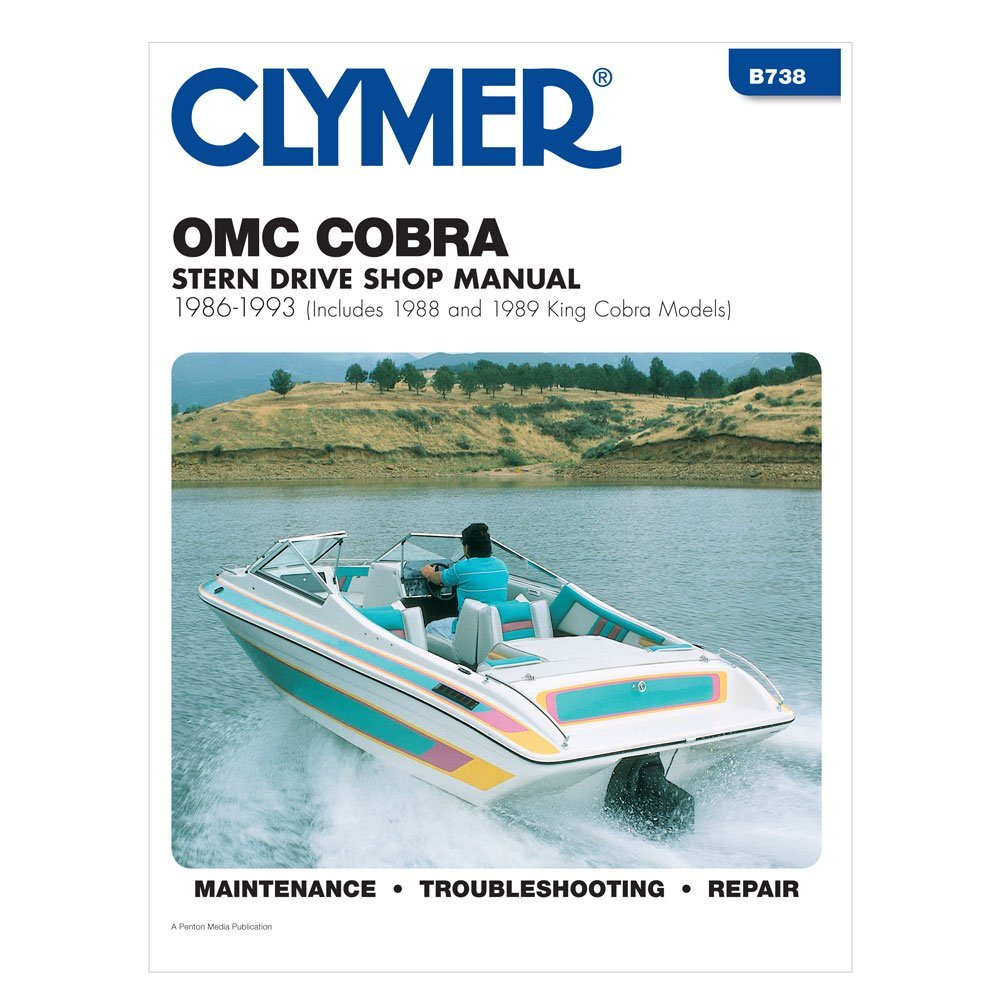 OMC Cobra Stern Drives (Includes 1988 and 1989 King Cobra models), 1986-1993.  This specific marine engine manual ...