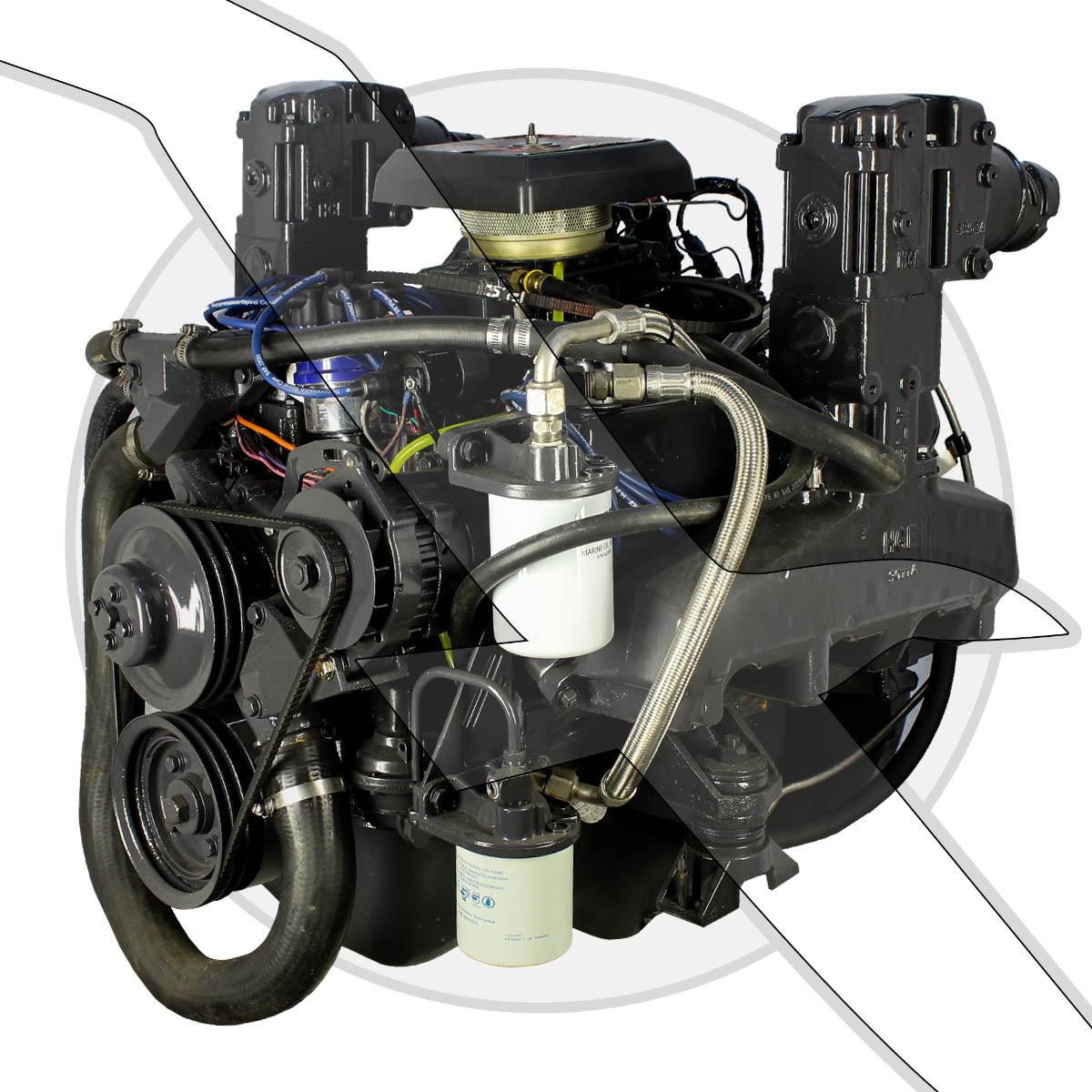 7 5l 460ci omc king cobra engine complete marine motor 7 5