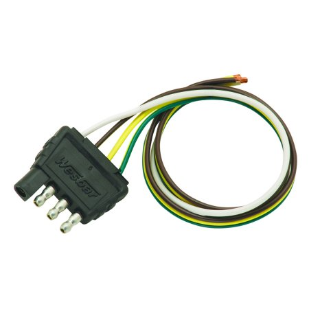 Details about Wesbar 707285 Boat/Utility Trailer 4-Way Flat Wire Harness on