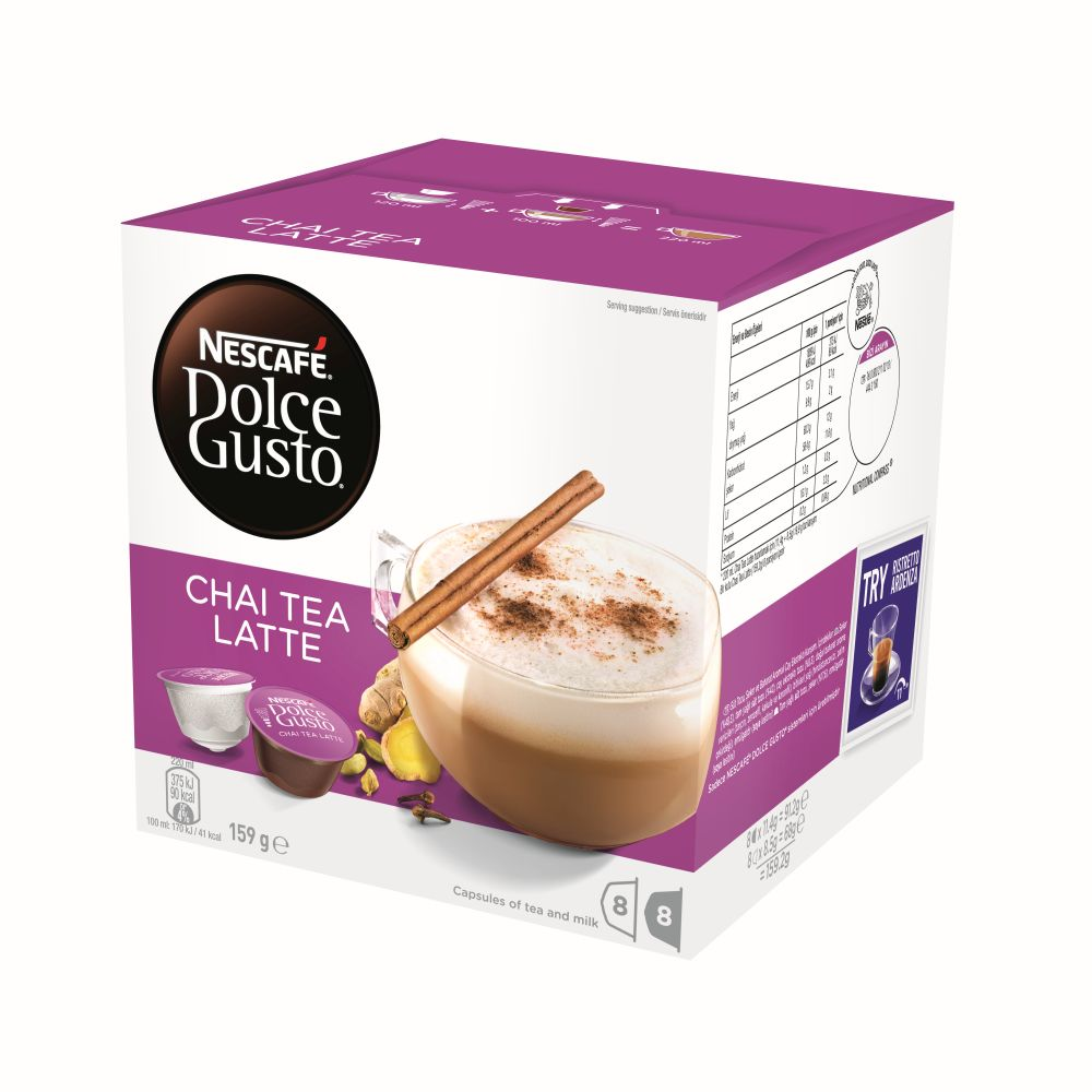 NESCAFE Dolce Gusto Chai Tea Latte 8 Coffee And 8 Milk