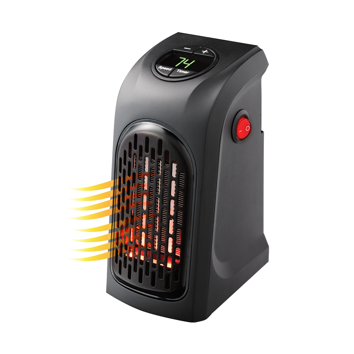 jml handy heater compact plug in digital electric heater