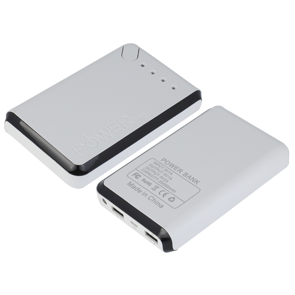 external iphone charger 20000mah usb portable external battery charger power bank 8544