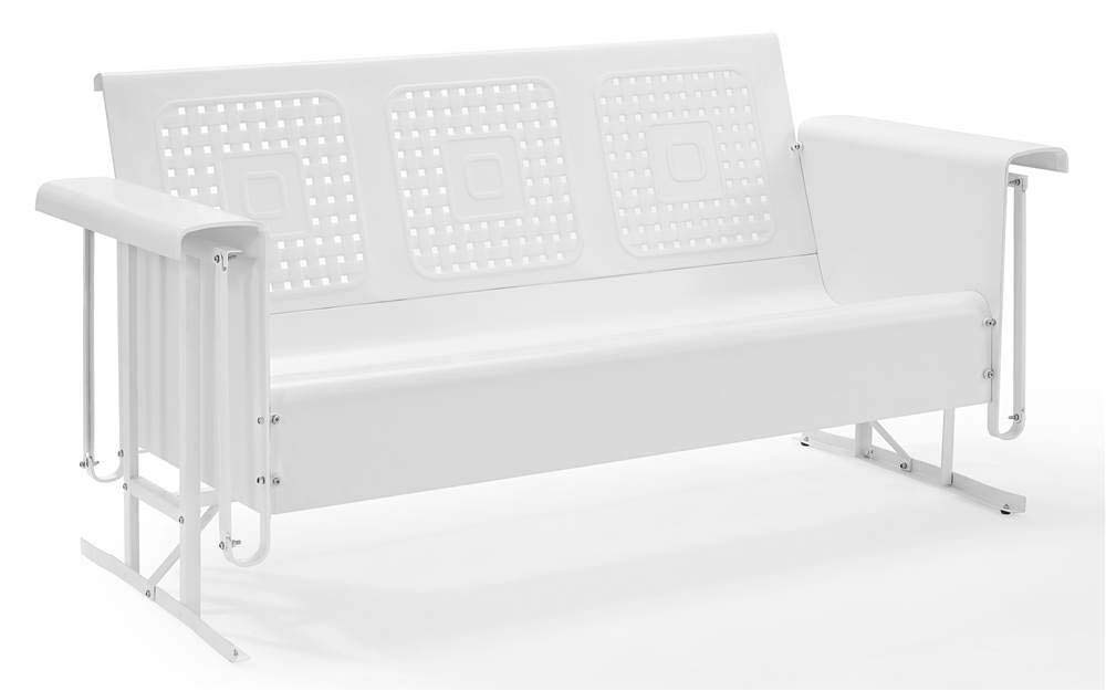 Crosley Furniture Sofa Glider In White Finish