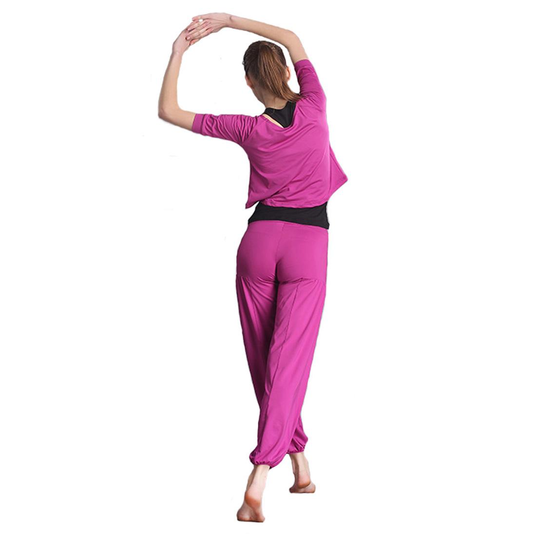 Womens Casual Yoga Sport Suit Workout Vest Tops Pants