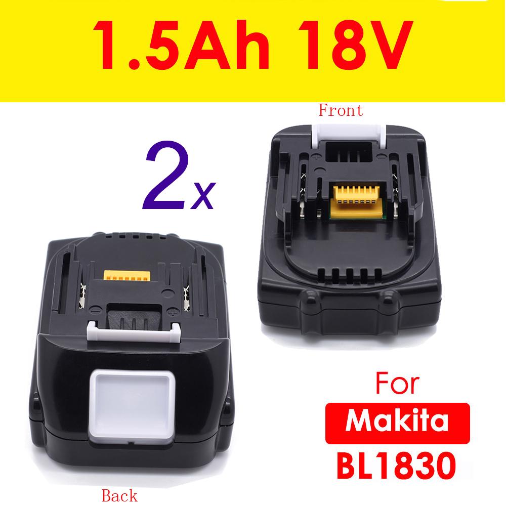 2 x 18v 1 5ah lithium ion new battery for makita bl1815. Black Bedroom Furniture Sets. Home Design Ideas