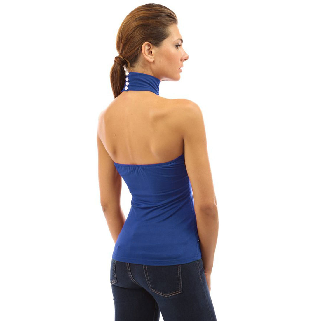 Women Sleeveless Mock-Turtleneck Pleated Top with Waistband. from $ 16 Lisik. Women High Neck Turtleneck Tank Top Sleeveless Turtleneck Lace Shirt. from $ 18 99 Prime. out of 5 stars 5. Anne Klein. Women's Sleeveless Turtleneck Sweater, $ 69 00 Prime. out of 5 stars 5. Babe Society.