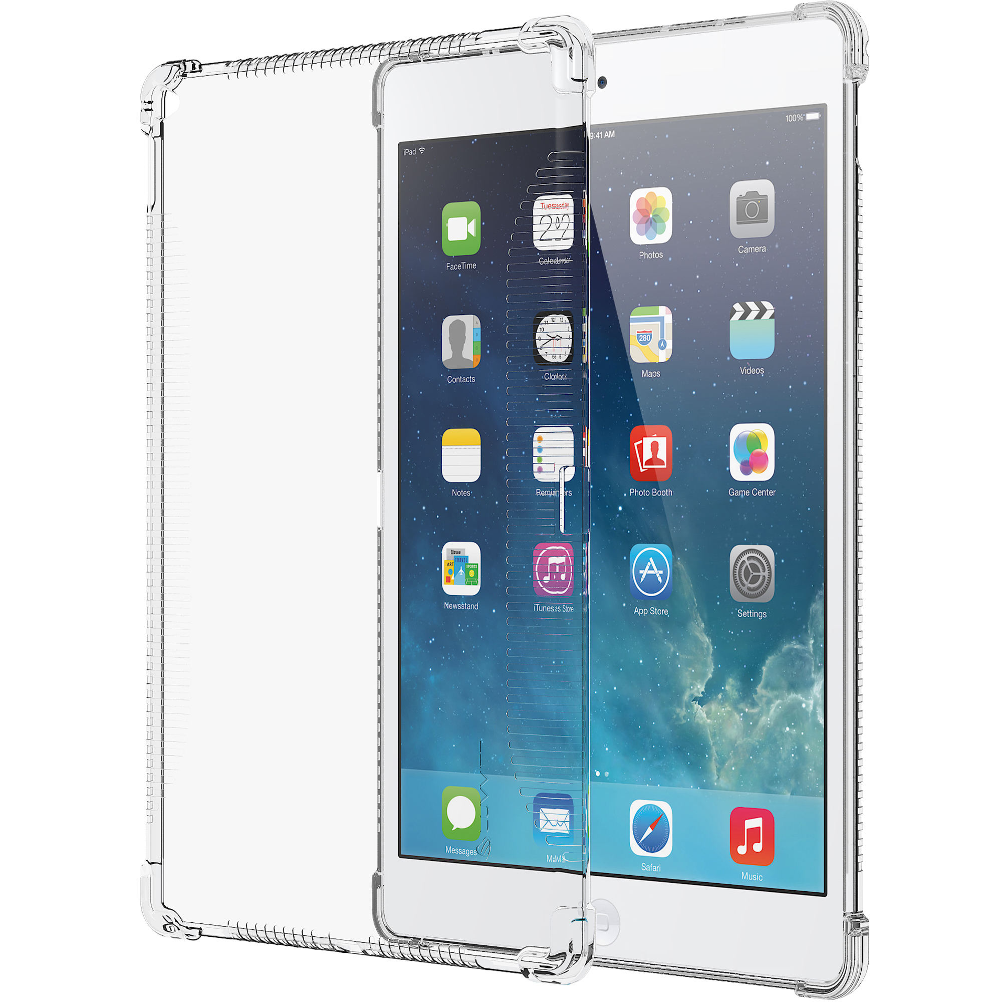 LUVVITT CLEAR GRIP Flexible TPU Rubber Back Cover for iPad Pro