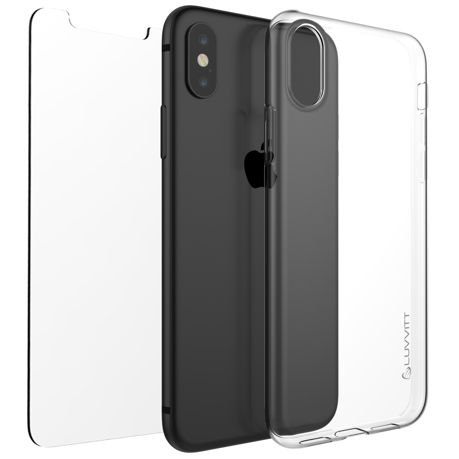 watch 5fe9a b61b3 Details about Luvvitt Clarity Case for iPhone XS / X Slim Flexible TPU  Rubber Light Cover