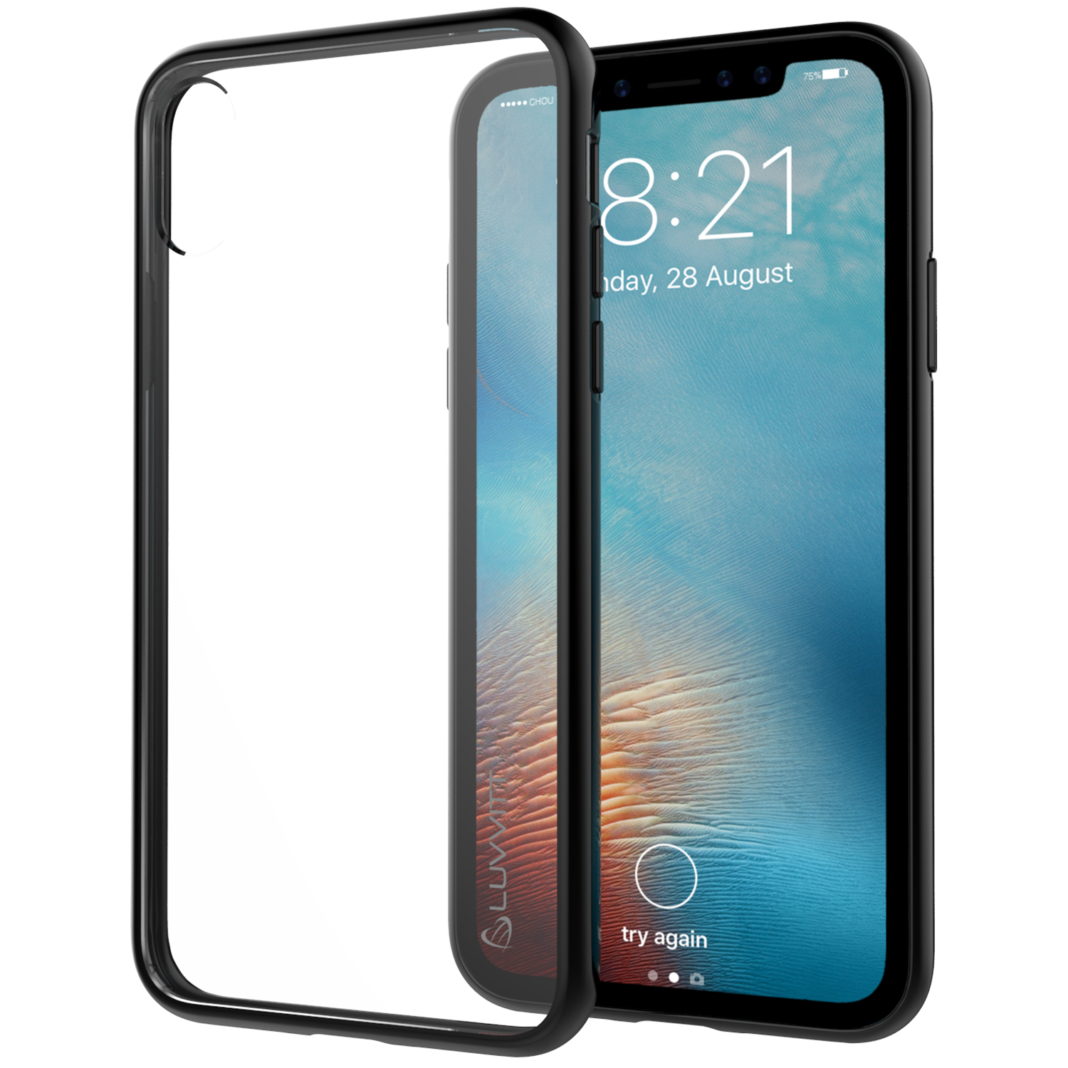 new product 5e260 a014d Details about Luvvitt Clear View Hybrid Case for iPhone X / XS - Black