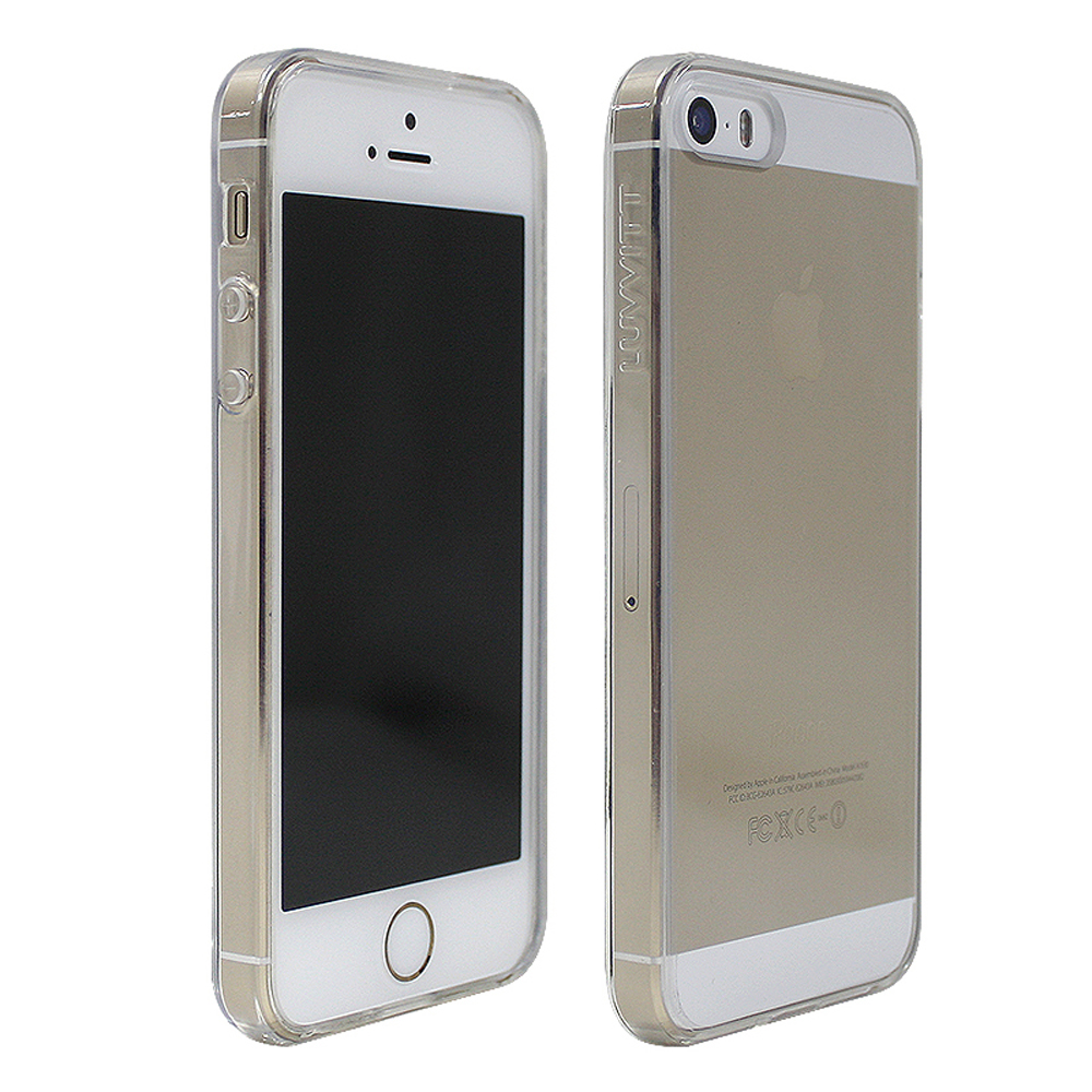 5s iphone case luvvitt clearview slim clear back with bumper for 10014