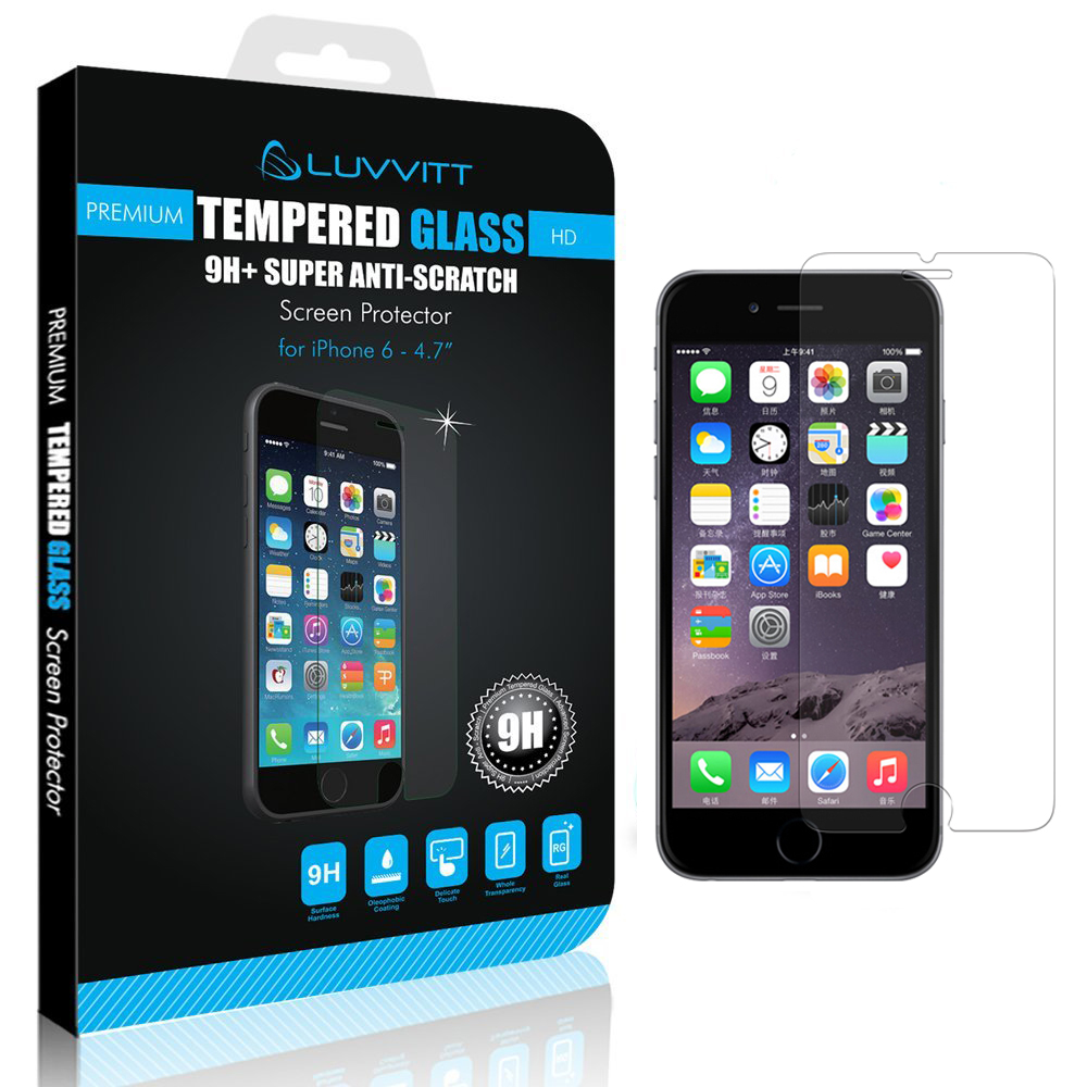 iphone 6 screen protector luvvitt tempered glass screen protector for iphone 6 6s 15075