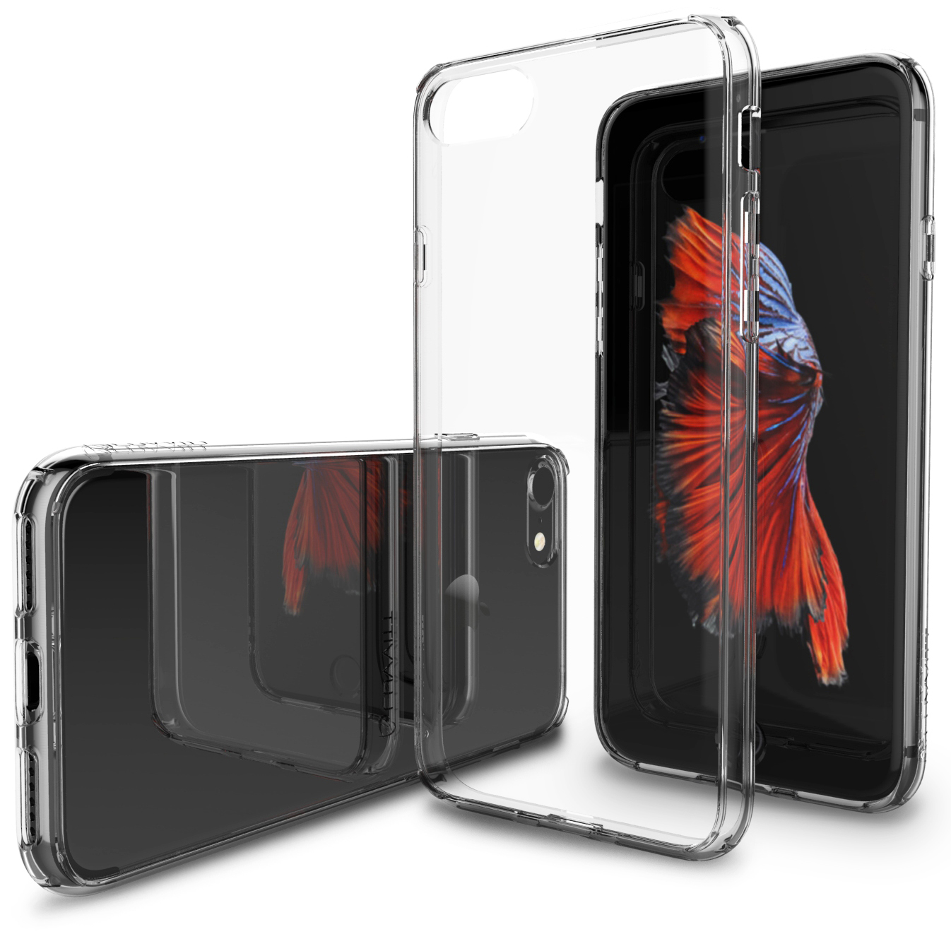 7c14d24a9c7 LUVVITT CLEARVIEW Case for iPhone 7 ' Hybrid Back Cover - Crystal Clear