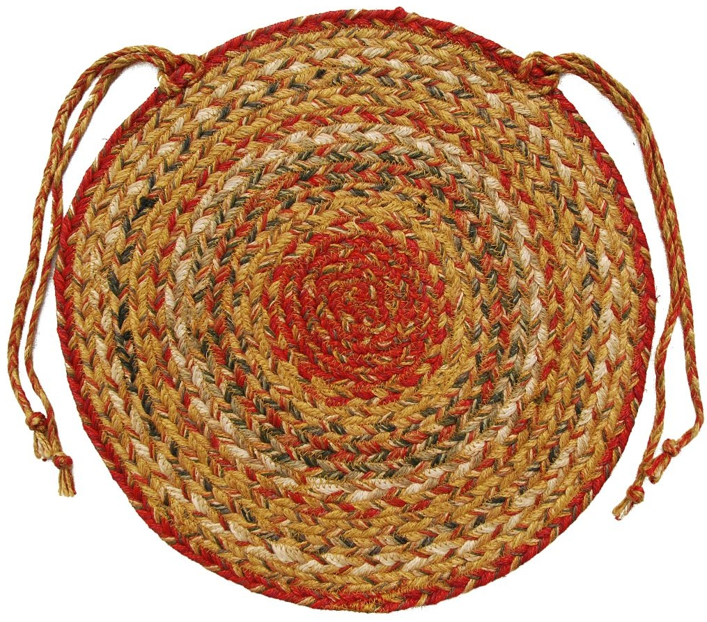 """Mustard Seed Braided Chair Pads - Round - 15"""" (Set of 4 ..."""