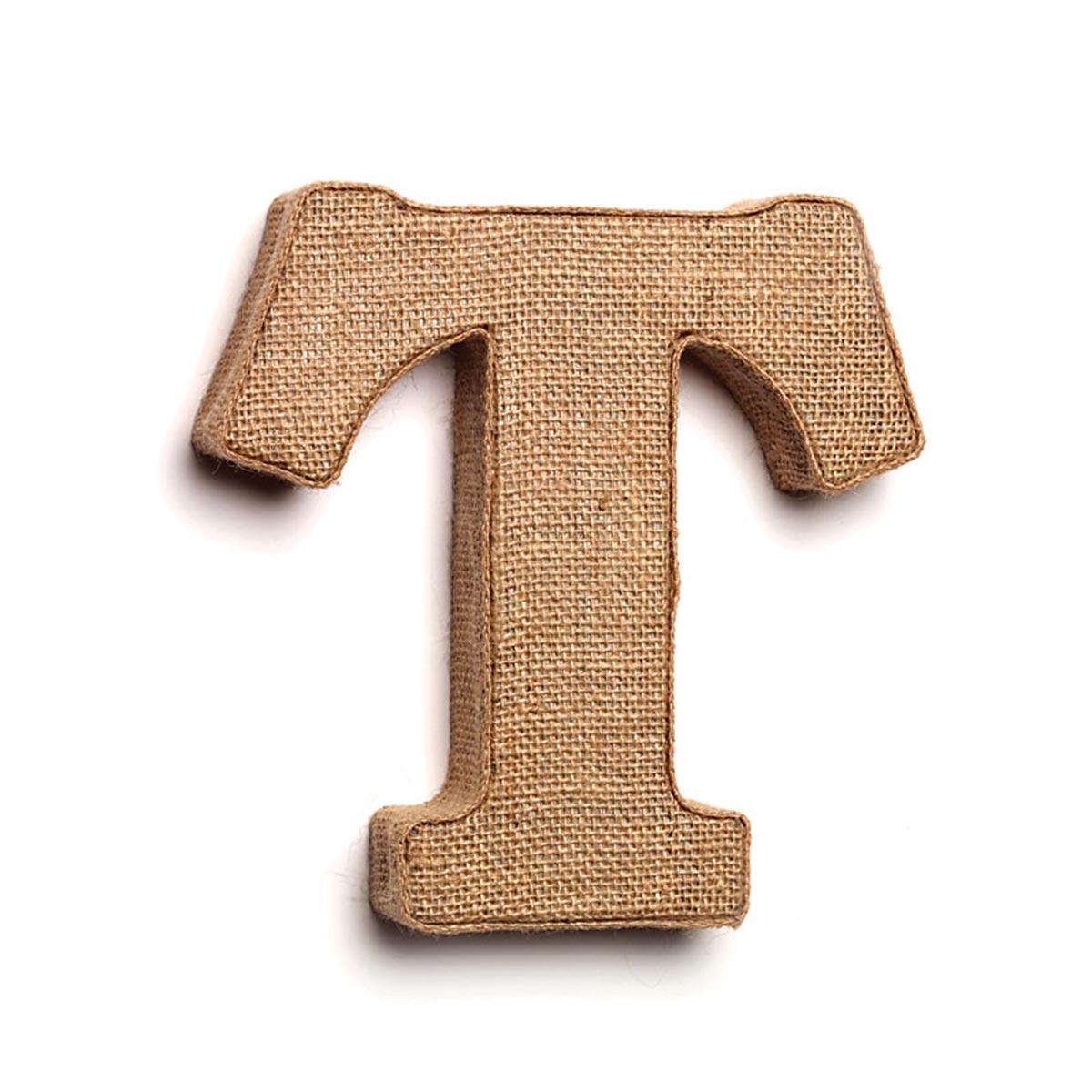 Decorative Burlap Letters - T