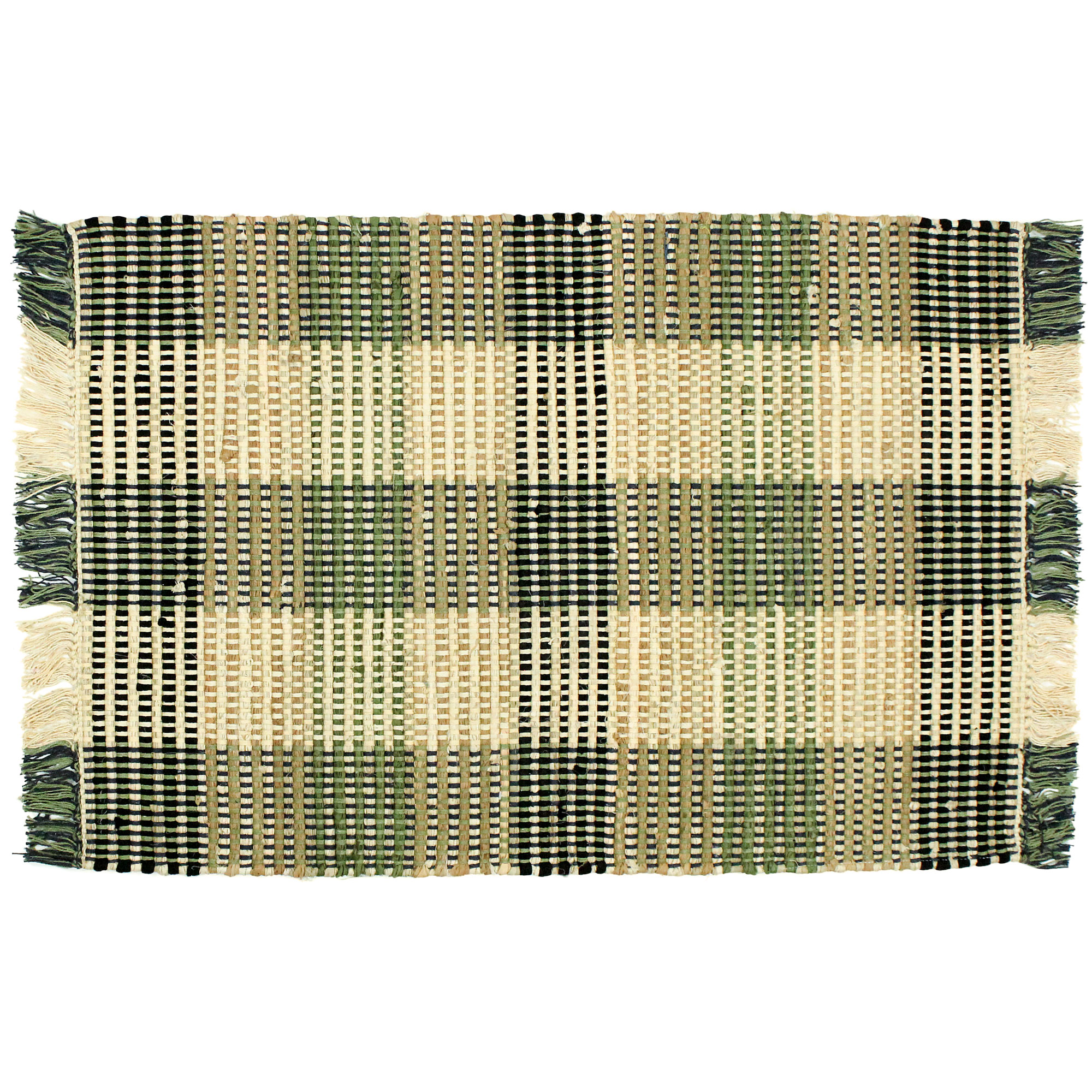 Plaid Rug: Booker Plaid Cotton Area Rag Rugs 2 X 3 Bathroom Kitchen Entry