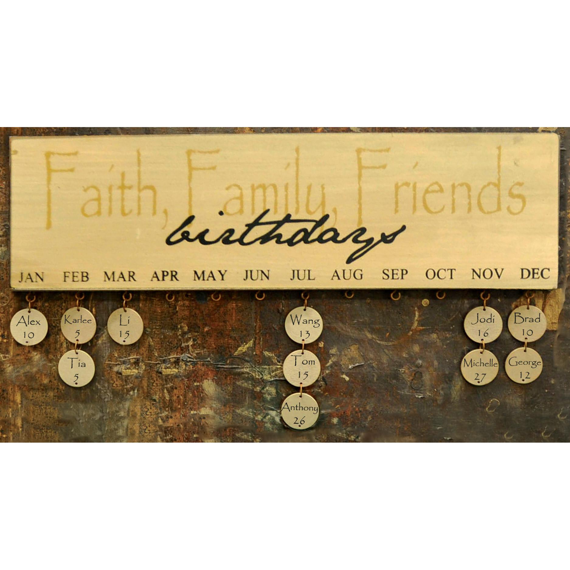 Modern Faith Family Friends Wall Art Pattern - Art & Wall Decor ...