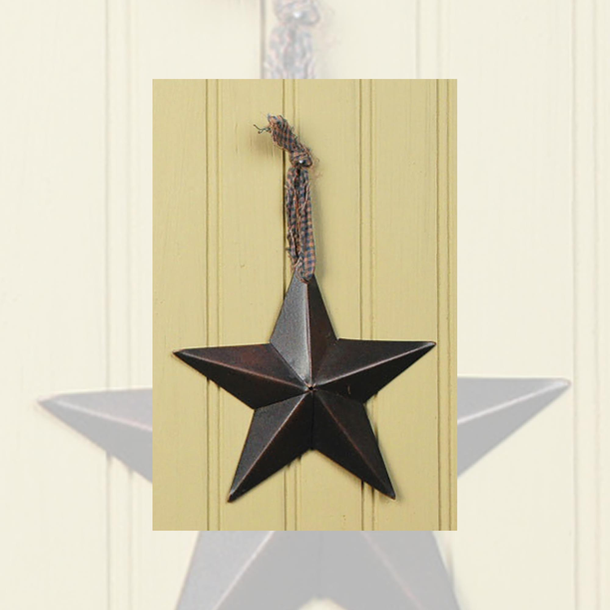 Metal Barn Star Primitive Tin Black, Red, Ivory, or Colonial | eBay