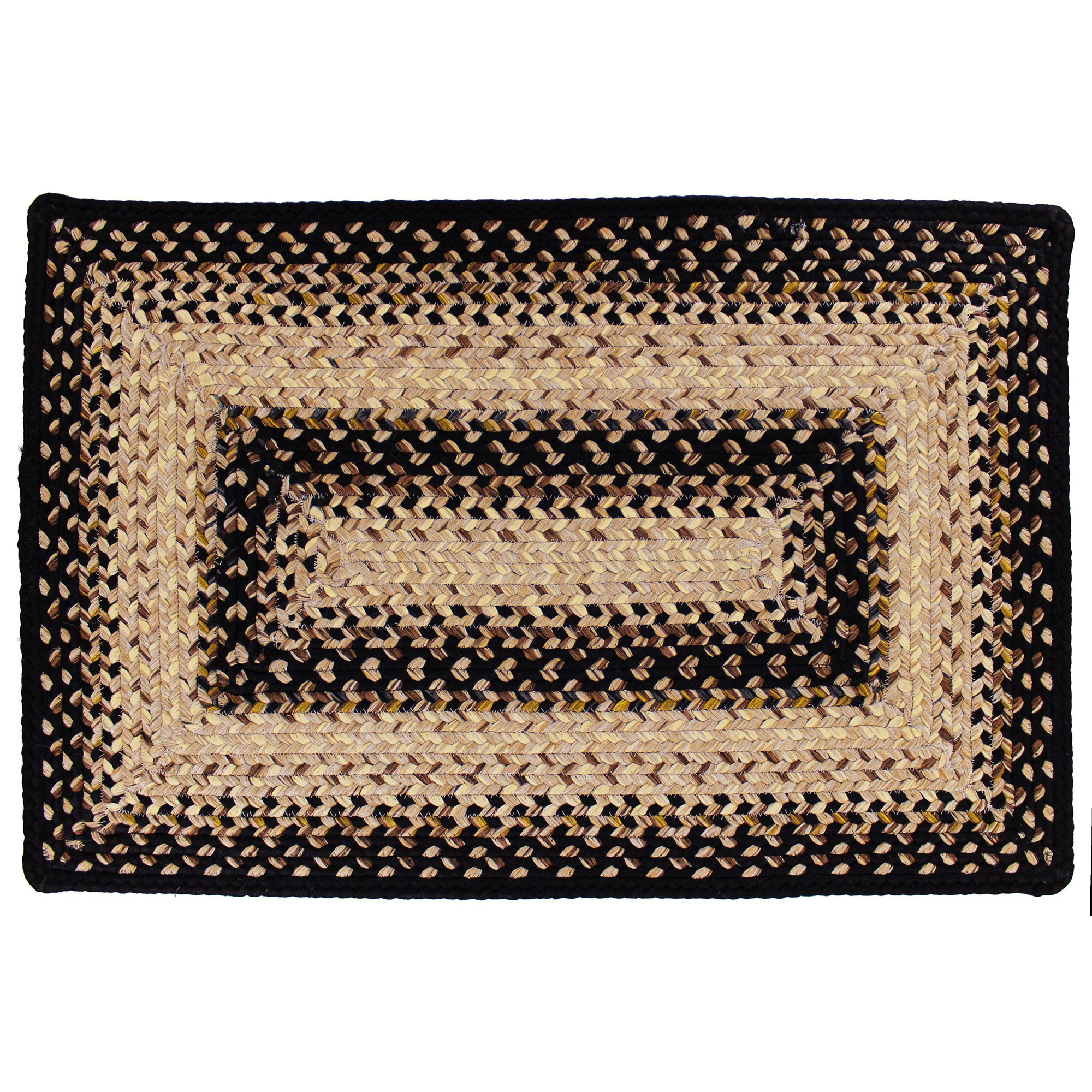Indoor Outdoor Braided Area Rug Oval Or Rectangle Black